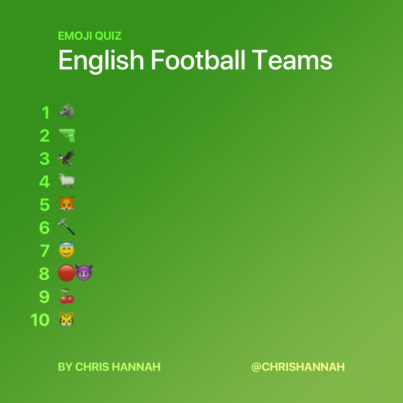 English Football Teams Quiz